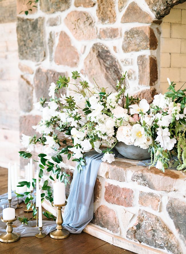 Romantic & Rustic Dusty Blue Wedding Inspiration - Inspired By This