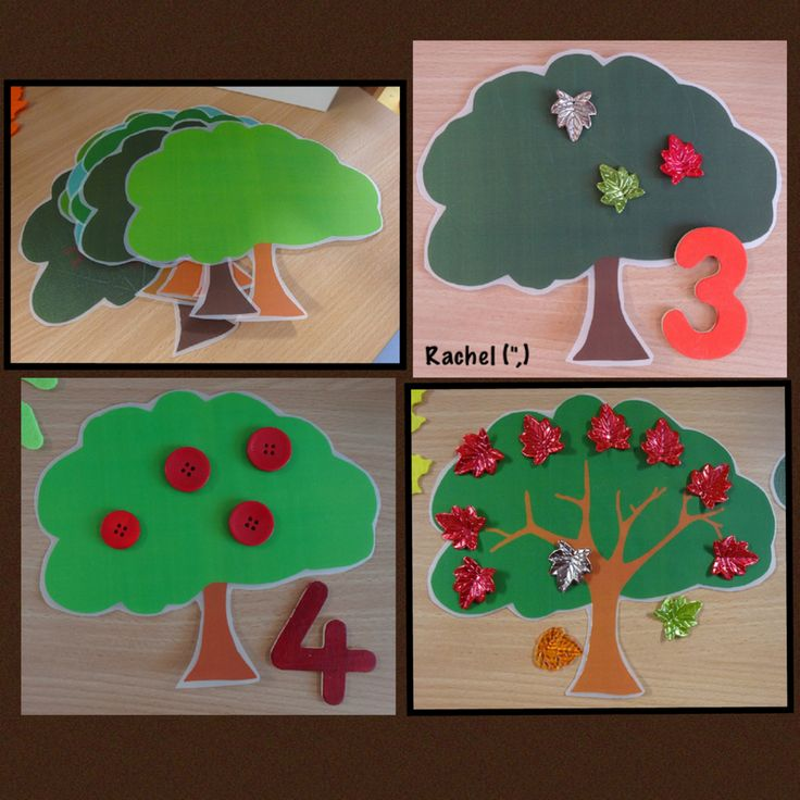 """Counting onto trees (free printable) from Rachel ("""",)"""