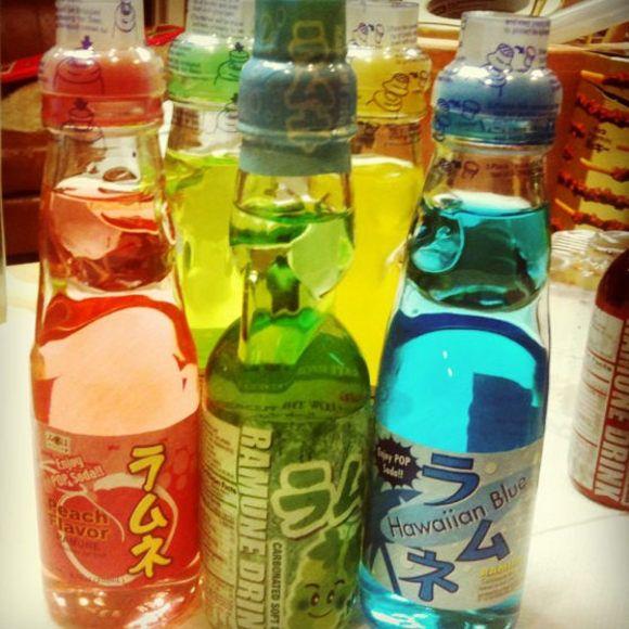 Ramune Japanese Soda Hata Carbonated Marble Soft Drink 25 Flavors Japanese Drinks Japan Snacks Japanese Snacks