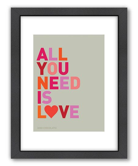 Yes. Yes. Yes. :: 'All You Need is Love'  Wall Art