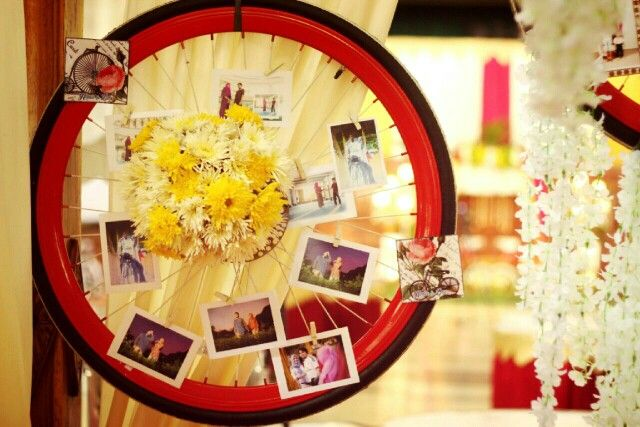 Bike theme wedding decor