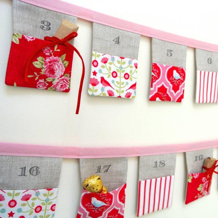 handmade bunting advent calendar ~ tilda birds by sew sweet violet | notonthehighstreet.com