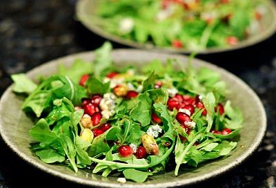 Watercress And Arugula Salad With Blue Cheese, Dates, And Almonds ...
