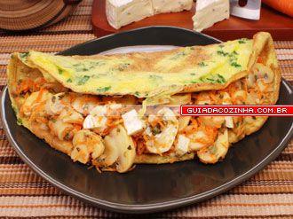Receita de Omelete de cogumelos
