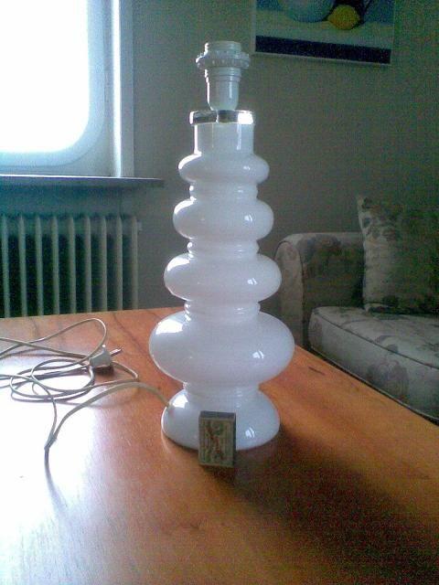 Lamp foot in glass