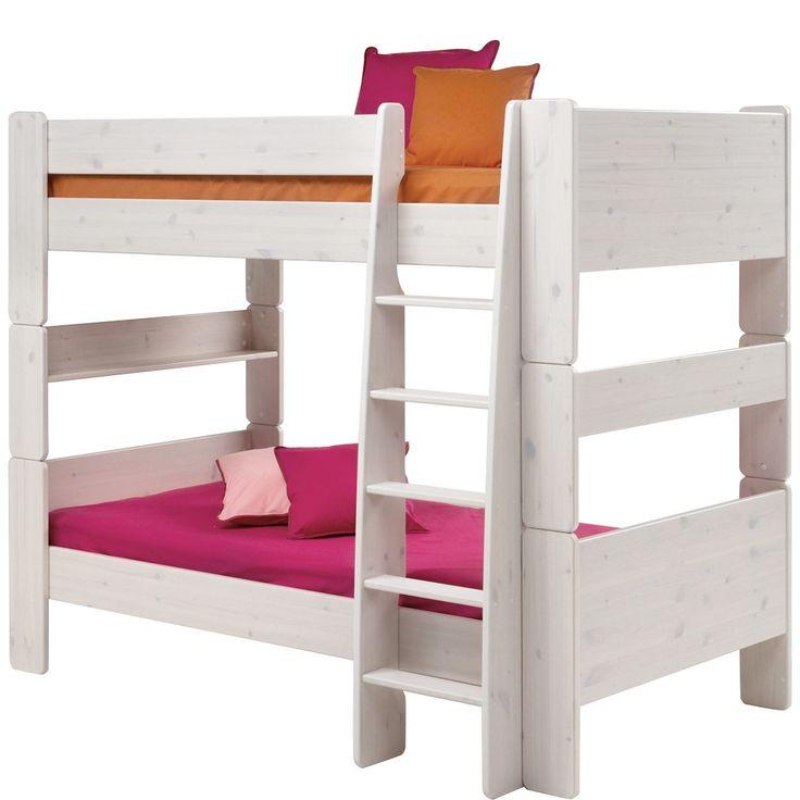 bett for kids 90x200 cm etagenbett kiefer massiv white wash jetzt bestellen unter https - Coolste Etagenbetten