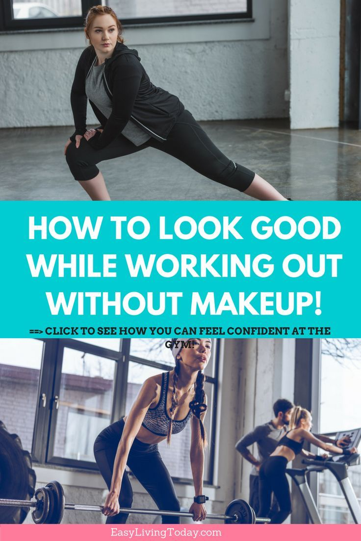 e507497d49c5 Click for the secret tips on how to look good without makeup while working  out at the ...