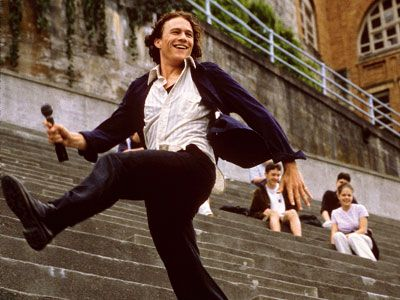 This is the moment every girl fell in love with Heath Ledger and the song Can't Take My Eyes Off of You. I know I did.