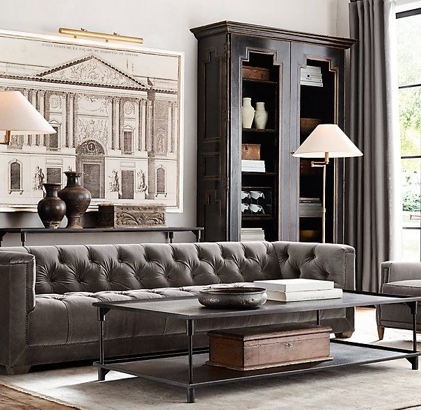 Maybe something like this sofa for the family room off the kitchen.  A little more formal than for the basement but still comfortable.