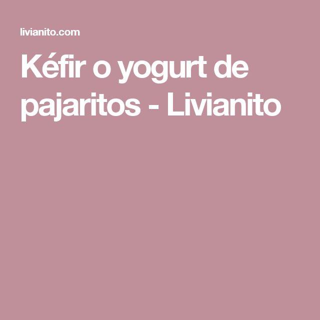 Kéfir o yogurt de pajaritos - Livianito