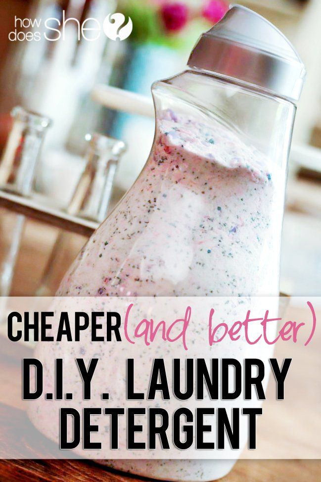 Homemade DIY Laundry Detergent…Cheaper AND Better!