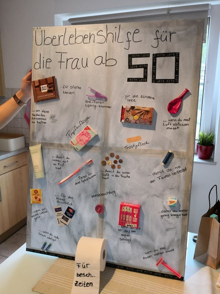 Überlebenshilfe für die Frau ab 50. Geburtstagsgeschenk 50 – DIY IDEEN