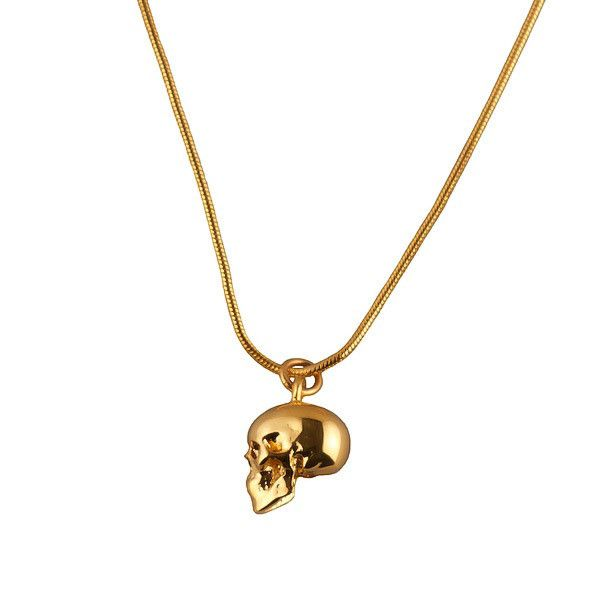 71 best hm brands necklaces images on pinterest unique roz buehrlen skull gold charm necklace luxury british designer available to buy on aloadofball Gallery