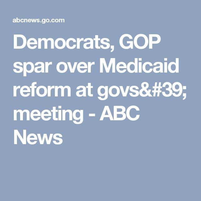 Democrats, GOP spar over Medicaid reform at govs' meeting - ABC News