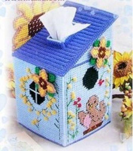 Ev Mendil kutu El Sanatları kiti Kendi ellerinizle yapacağınız şirin bir dekor peçete kutusu! Model Numarası:C68 Boyutu: 19cm * 13CM * 13CM