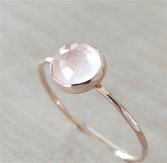 Rose quartz in rose gold: https://www.etsy.com/listing/213834332/rose-quartz-ring-rose-gold-ring-pink