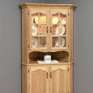 Oak Corner Dining Room Cabinet