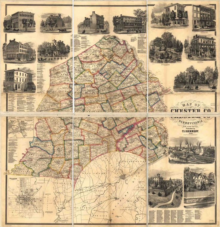 Chester County Map of Chester Co