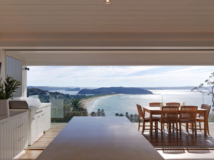 Coastal views from Eco Outdoor featured project by Annabelle Chapman Architects. #livelifeoutdoors #naturalstoneflooringandwalling Annabelle Chapman Architects | River Run Constructions | Eco Outdoor | Sesame cobblestones | Berrimah traditional format walling | Outdoor design | Garden design | Outdoor paving | Outdoor design inspiration | Outdoor style | Outdoor ideas | Paving ideas | Contemporary garden design | Driveway ideas | Stone walling ideas | Outdoor tiles | Stone tiles | Luxury…