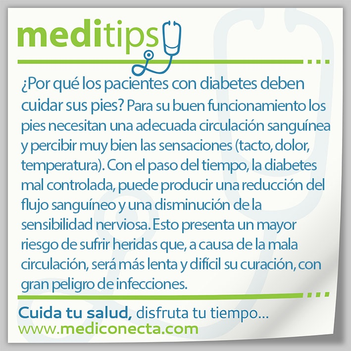 ¿Por qué los pacientes con diabetes deben cuidar sus pies?
