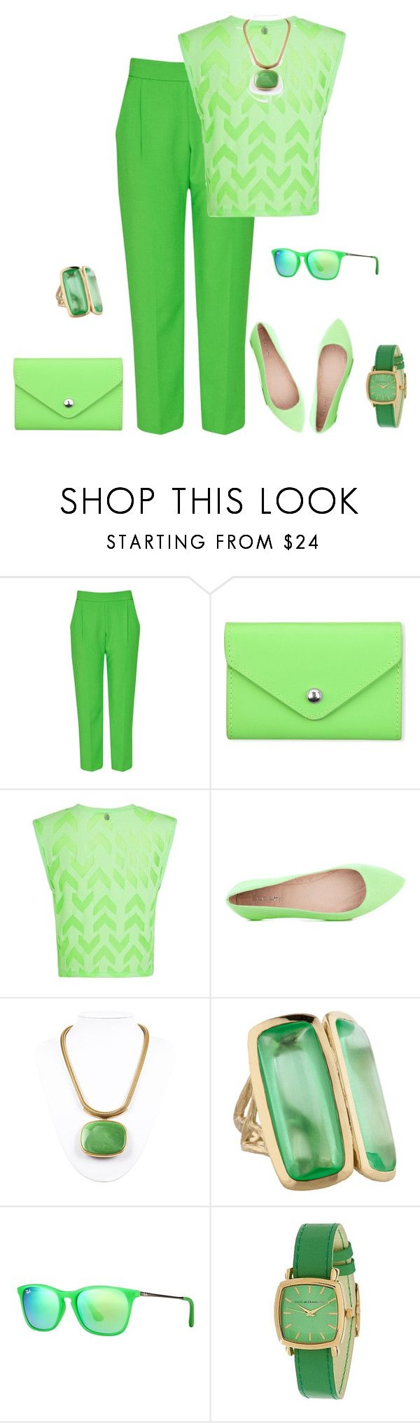 """""""outfit 2397"""" by natalyag ❤ liked on Polyvore featuring French Connection, Paperthinks, Lorna Jane, Joe's Jeans, Lanvin, Elizabeth Showers, Ray-Ban and Isaac Mizrahi"""
