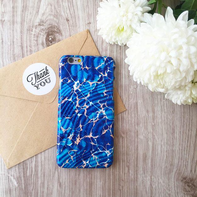 iPhone,Samsung Galaxy case ,Marble, blue - iwantcase - Etui na telefon