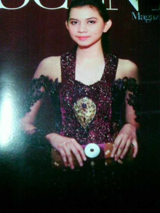 Me in #kebaya traditional formal gown from Indonesia