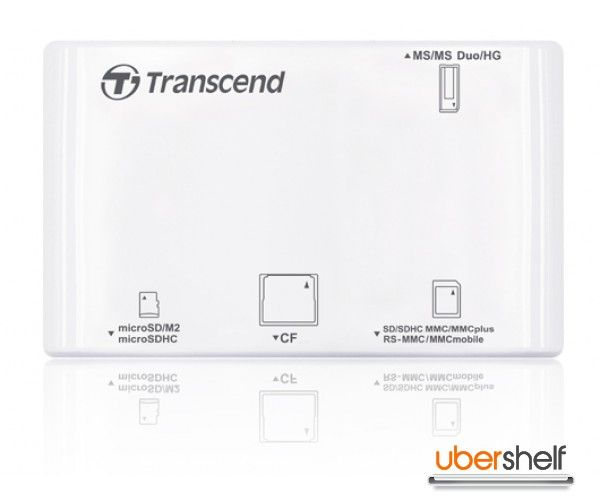 Transcend All-in-One Multi Card Reader RDP8 - White