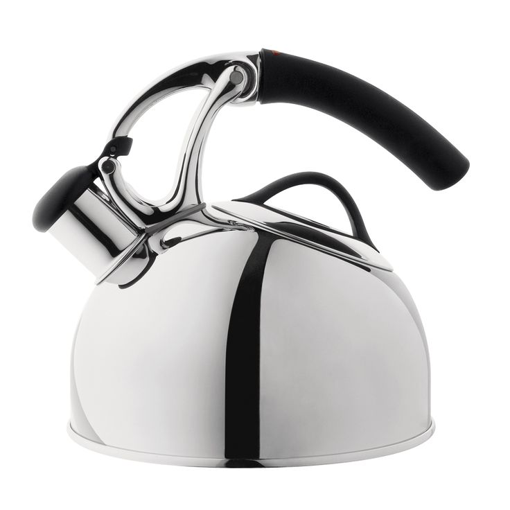 Uplift Tea Kettle - Stainless Steel.  This one is neat, lift the handle and the spout opens.