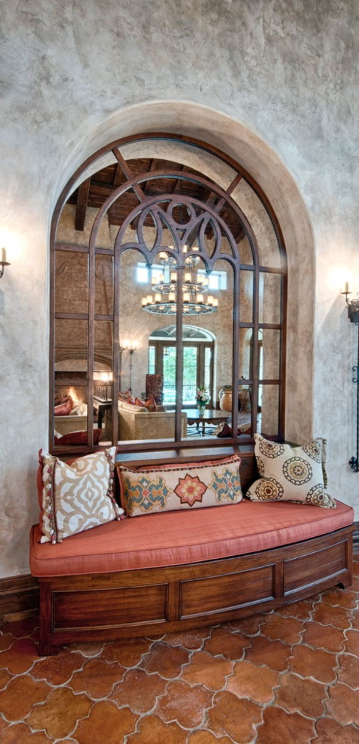 Like the large cut out with heavy iron accents Old World, Mediterranean,  Italian, Spanish & Tuscan Homes & Decor