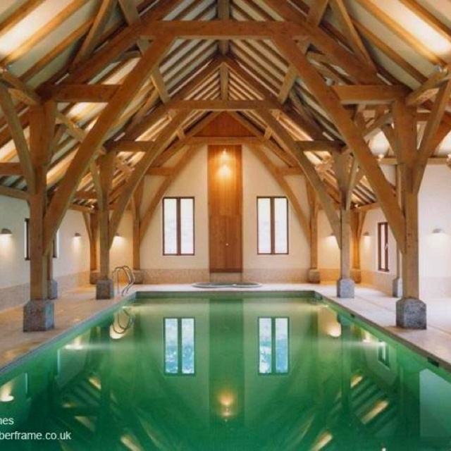 Amazing trusses interiors pinterest Red house hotel swimming pool