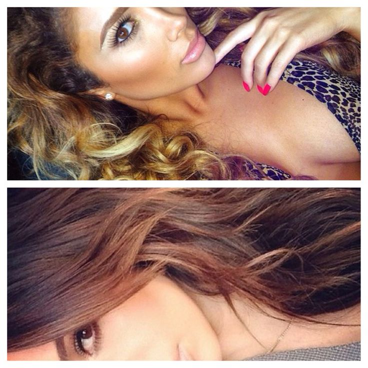Beautiful ombre hair. Miss Nikki baby & kim kardashian.