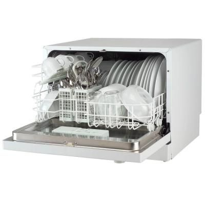magic chef countertop portable dishwasher in white with 6 place settings the