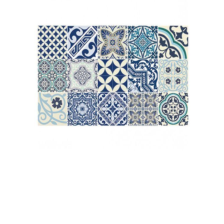 Set de table Eclectic - Bleu et Blanc - Beija Flor x4