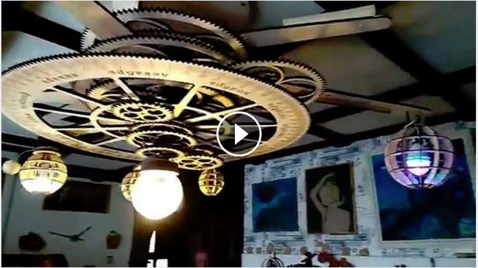 """Solar System"" Chandelier  https://www.facebook.com/SteampunkTendencies/videos/1280594072054956/"