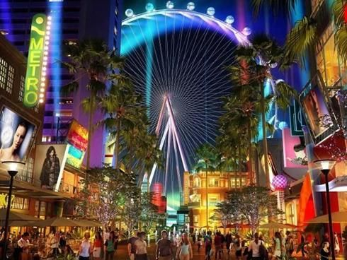 High Roller Wheel in Las Vegas, an observation wheel (huge ferris wheel), 550 feet tall, higher than the London Eye or Singapore Flyer! $25/$35 day & night prices, 30-minute round trip.