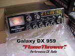 What is a Galaxy DX959 FlameThrower CB radio?