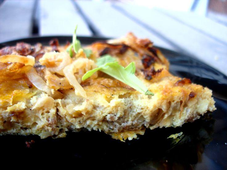carmelized onion fritatta