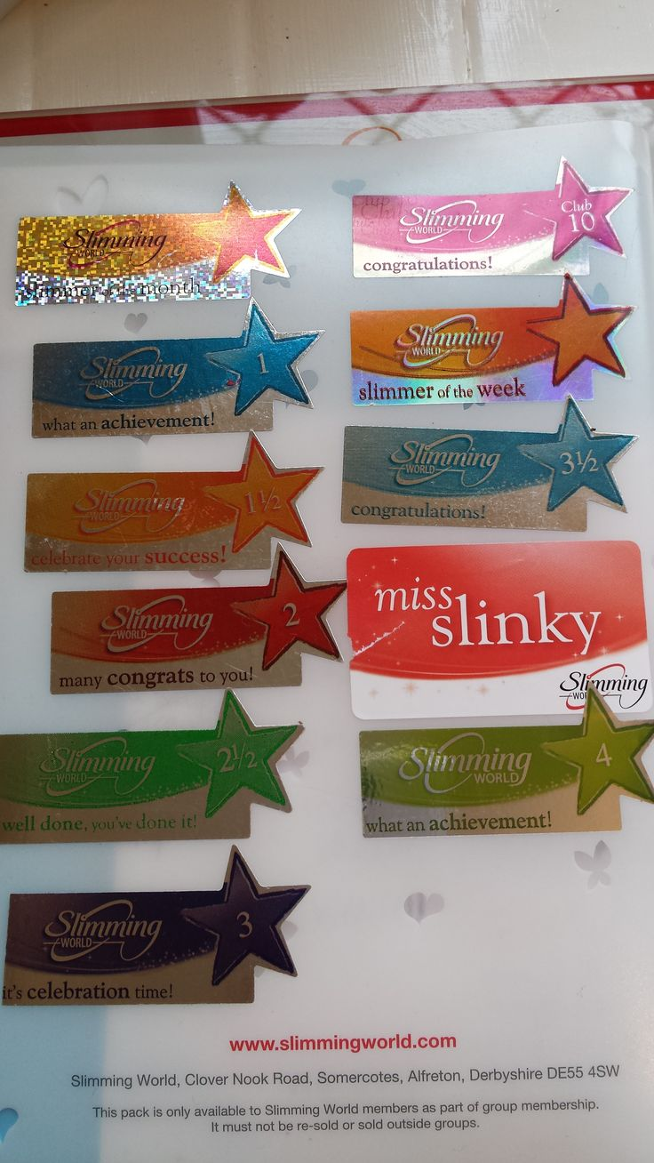 My Slimming World Journey In Award Stickers My Slimming