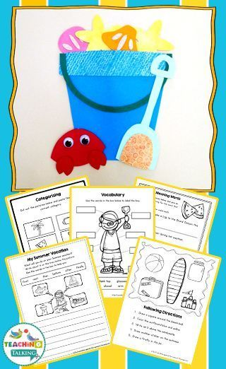 Summer Speech and Language Activities | Preschool speech ...