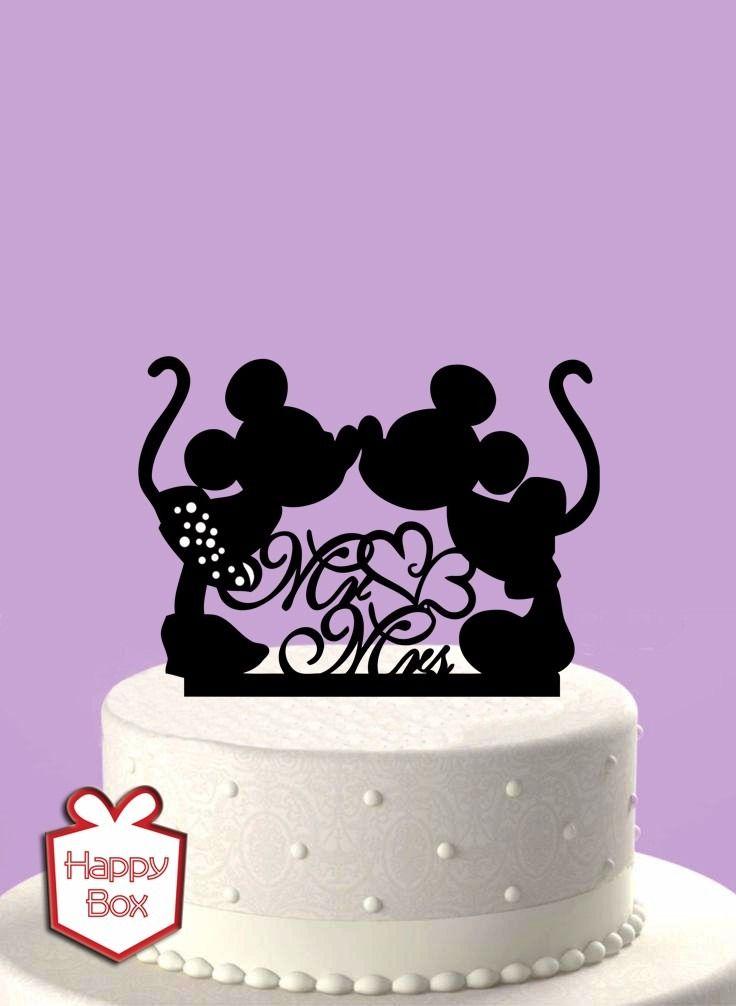 Adorno Para Torta Casamiento Mickey Mouse Cake Topper