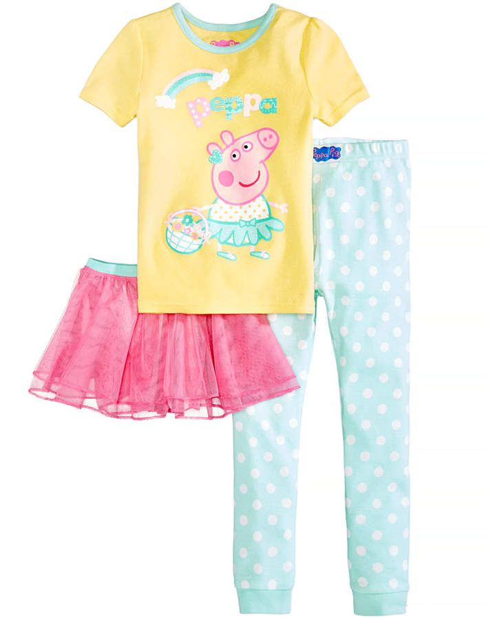 50ec3ec18 Nickelodeon's 3-Pc. Tutu Pajama Set, Toddler Girls #piece#fun#Pig ...