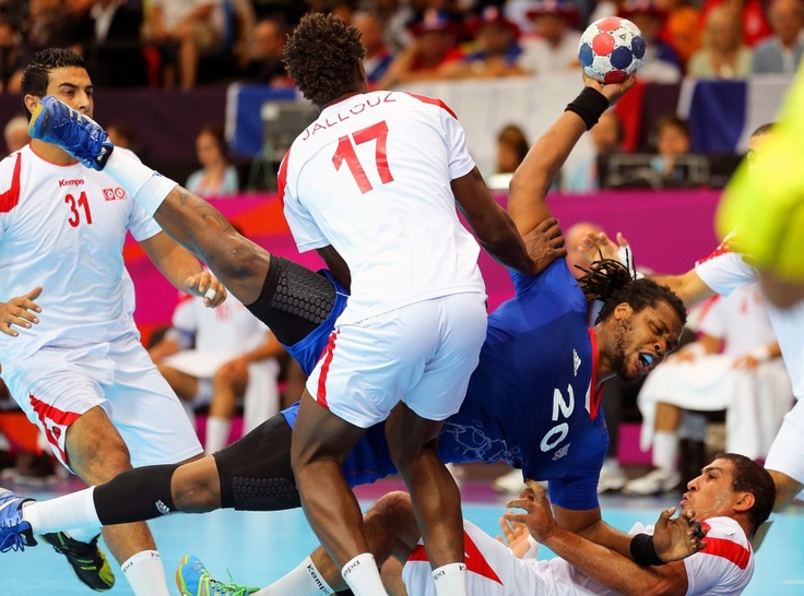 France vs. Tunisia, Men's Handball, Aug. 2. Srdjan Suki/European Pressphoto Agency