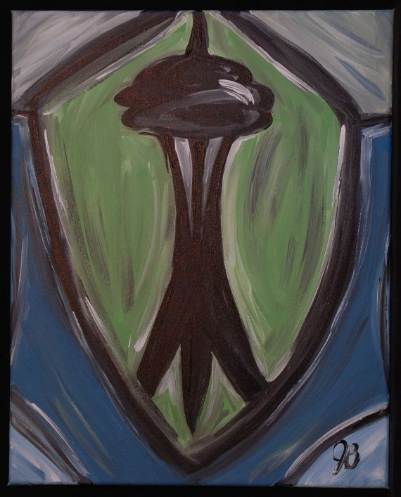 Seattle Sounders FC Abstract Painting