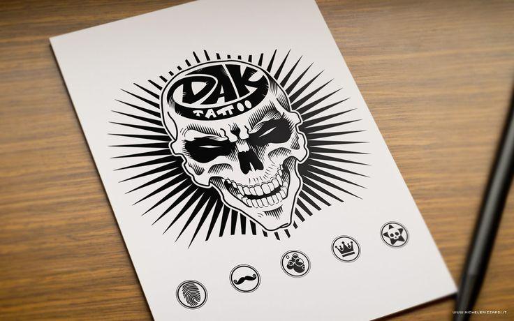 T-Shirt Design for DAK TATTOO STUDIO - Milano  #skull #tshirt #tshirts #fashion #style #clothing #tattoo #tattoos #tattooed #tattooartist #tattooart #face #character #sketch #disegno #sketchbook #book #portfolio #sketching #sketches #pencil