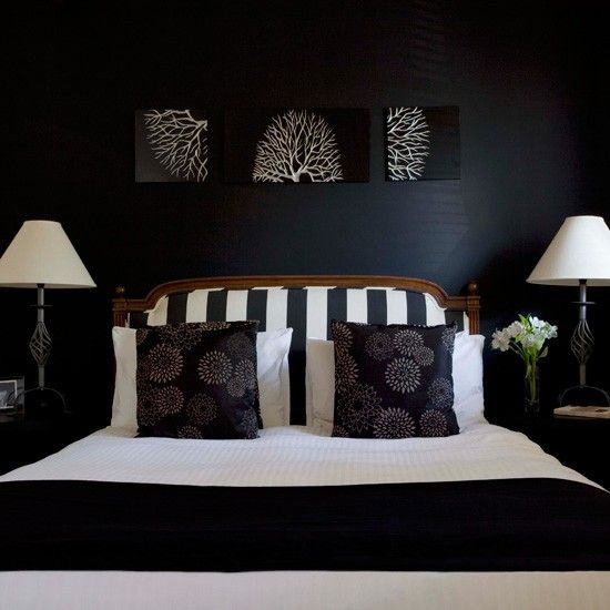 This would be great for a guy, but a dark room is VERY conducive to a good night's sleep!    housetohome.co.uk
