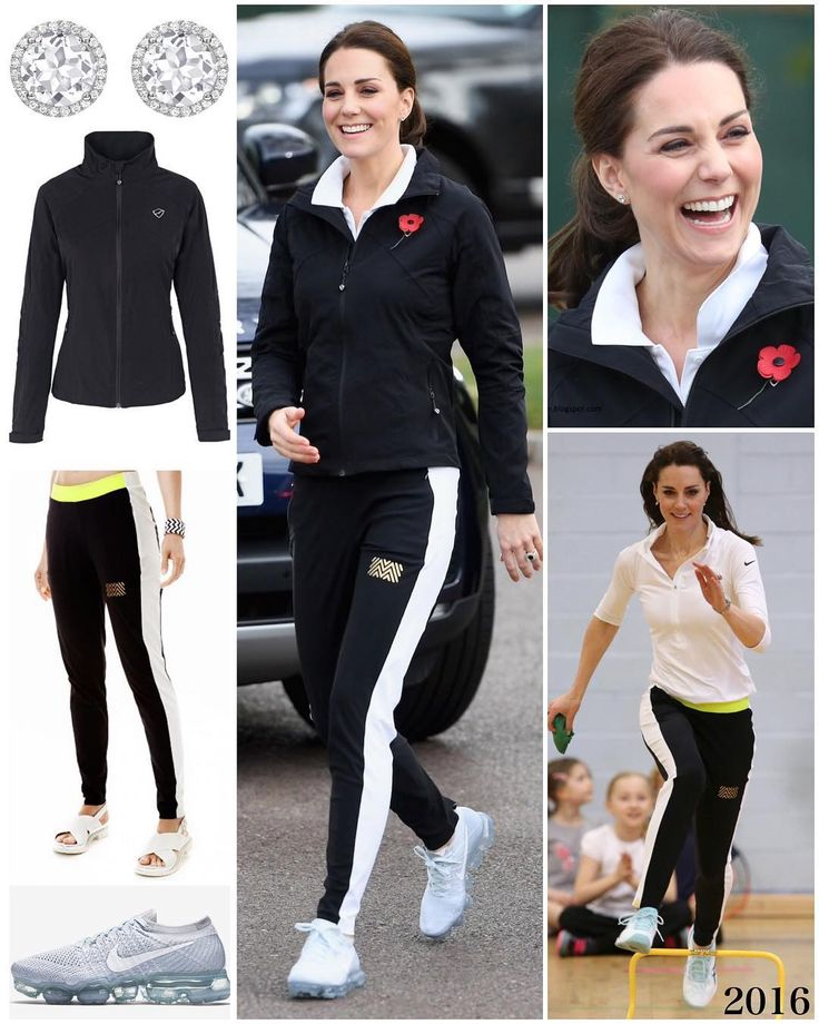 """The Duchess rocked a sporty look for today's visit to the Lawn Tennis Association. If her track…"""