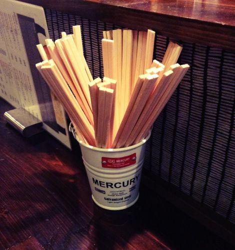 chopsticks at Ramen-ya Hiro Barcelona