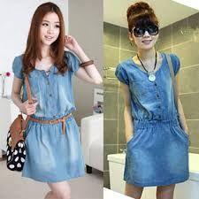 Resultado de imagen para vestidos en jean