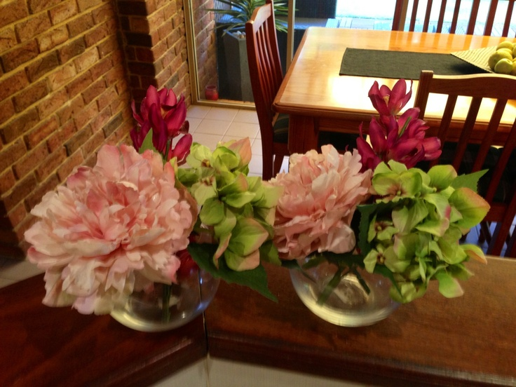 Vases and floral arrangements